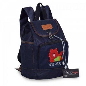 Ba lô jean hình chú gấu màu đỏ ATBLT0515002