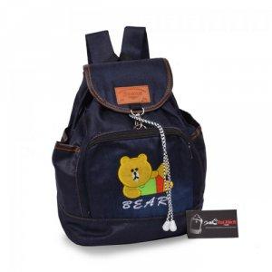 Ba lô jean hình chú gấu màu vàng ATBLT0515002