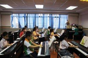 Lớp piano, guitar đào tạo