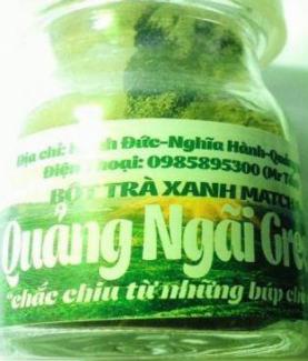 Bột Trà Xanh Quảng Ngãi