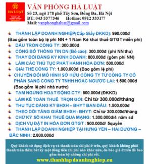 Thành lập doanh nghiệp trọn gói tại Hưng Yên – Hải Dương – Bắc Ninh