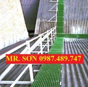 Sàn lót làm lối đi trên mái nhà máy, sàn lót chống trượt composite