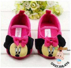 Giày Tập Đi Chuột Mickey Cho Bé Gái