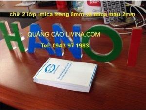 Chữ nổi mica tại Q3 TPHCM