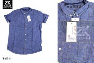 Sơ mi Denim Repaly Blue Jean (tay ngắn)