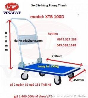 Xe được ứng dụng để chở hàng hóa, chở tiền Kiểu xe: xe đẩy tay 4 bánh Kích thước : 450 x 700 x 820mm Cự ly sàn xe: 160mm Tải trọng: 150kg Trọng lượng 11kg