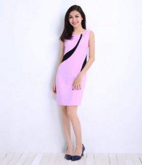 Đầm suông nữ phối hoa vai ZID16068