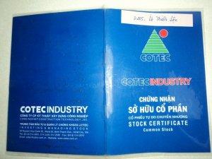 Bán cổ phiếu Cotec và ngân hàng Đông á: 12.000đ/cp.