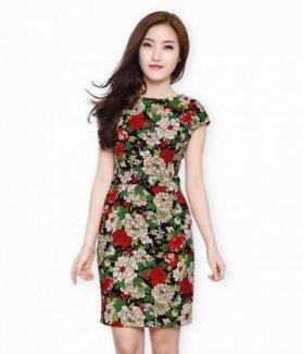 Đầm lady hoa Hải Đường sang trọng ZID30028