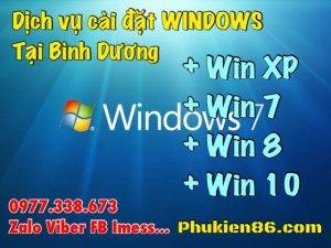 Dịch vụ cài đặt windows tại Bình Dương