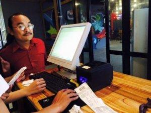 Máy Bán Hàng Cảm ứng Pos giá rẻ cho Quán Cafe tại Hạ Lang Cao Bằng