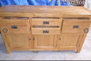 Tủ gỗ sồi, 3 cánh 4 hộc- 1m6