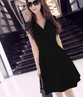 Đầm xòe cổ vest sang trọng ZID29799