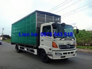 Xe Tải Hino FC9JLSW Chở Heo, Xe hino 6 tấn chở heo, xe tải thùng chở heo