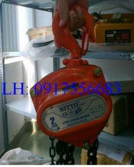 Pa lăng xích kéo tay Nitto 1 tấn 3m; 5m giá tốt nhất