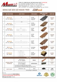 Giá sàn gỗ Awood