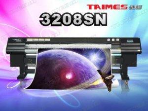 Thông số máy in kỹ thuật số TAIMES3208SN : Đầu phun: đầu phun công nghệ Tập đoàn điện tử SPT Nhật Bản. Số lượng đầu phun: 8 đầu.  Model đầu phun: SPT510-35pl. Quy cách xếp đầu phun: 2x4. Khổ in: 3.209mm(125.984inch). Tốc độ in (m2/h). Kiểu mực: Solvent Ink / ECO-Solvent Ink. Màu sắc: 4 Colors( C , M , Y , K , ). Dung lượng: 5l. Ink Supply System: Với bộ phận cảm ứng tự động, máy bơm sẽ không ngừng cung cấp mực