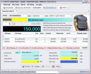 Phần mềm tính tiền Shop Thời Trang, Máy in hóa đơn cho Khách hàng