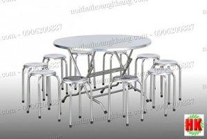Bàn ghế inox, Inox Hoàng Khang, bàn inox, ghế inox giá rẻ