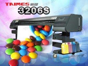 Máy in phun quảng cáo Taimes 3204 / 3206 S | Giá: 250.000.000 | Mô tả: Đầu phun: SPT510-35PL. Số lượng đầu phun: 4 / 6 đầu. Khổ in: 3200mm. Tốc độ in (m2/h). Sản xuất chế độ: 240x540dpi 3pass @ 48sqm / h. Kiểu mực: Solvent Ink / ECO-Solvent Ink. Màu sắc: 4 Color (C, M, Y, K ) / 6 Colors( C , M , Y , K , Lc , Lm ). Dung lượng: 5l. Ink Supply System: Với bộ phận cảm ứng tự động,máy bơm sẽ không ngừng cung cấp mực. Độ rộng: 3300mm. Vật tư in: Vinyl, Flex, Polyester, Back-lit Film, Window Film.