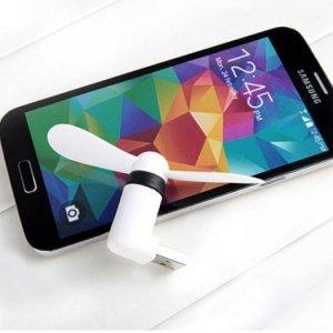 Quạt Mini 2 Cánh Rời (2 in 1 USB/Micro USB  Cho Smartphone Android)