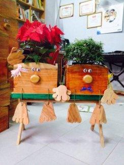 Chậu gỗ trang trí trong nhà, sân vườn