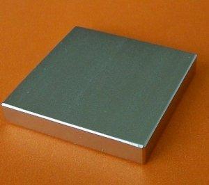 Nam châm trắng, nguyên khối hình vuông, 10cm x 10cm x 3cm