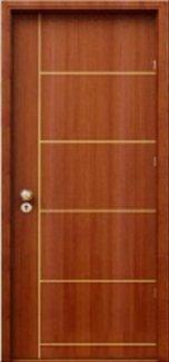 Cửa gỗ công nghiệp MDF veneer mã P5, cửa gỗ công nghiệp giá rẻ