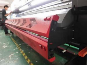Máy in quảng cáo khổ lớn TAIMES T5 | Mô tả: Khổ in: 3200mm (10.5ft). Độ phân giải: Độ phân giải 360DPI (Physical) và Độ phân giải 720DPI (Physical). Chế độ in - Tốc Độ (m2/h). Điểm cải tiến mới nhất của máy là phiên bản mới nâng cấp bên ngoài thiết bị, in ấn độ phân giải cao hơn nhiều và chắc chắn rằng máy hoạt động ổn định hơn, tiếp tục tối ưu hóa; thiết kế chuyên nghiệp của nhãn in màu PVC. Rõ ràng ghi nhãn trông thanh lịch và bền, lớp quạt hút góc lớn hơn, có thể biến góc theo góc của vật liệu, có thể đặt một khu vực thêm nhiều nguyên liệu dưới nóng lên và sấy mức 2000W mới cắt hệ thống sưởi ấm hồng ngoại (tùy chọn mục); các chai mực thải với hệ thống báo động tràn.