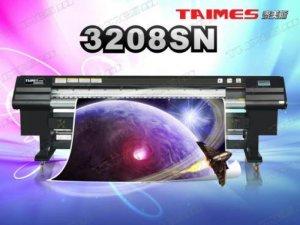 Máy in kỹ thuật số Taimes 3208SN Nghệ Cung   Giá: 385.000.000   Mô tả: Đầu phun: đầu phun công nghệ Tập đoàn điện tử SPT Nhật Bản. Số lượng đầu phun: 8 đầu.  Model đầu phun: SPT510-35pl. Quy cách xếp đầu phun: 2x4. Khổ in: 3.209mm(125.984inch). Tốc độ in (m2/h). Kiểu mực: Solvent Ink / ECO-Solvent Ink. Màu sắc: 4 Colors( C , M , Y , K , ). Dung lượng: 5l. Ink Supply System: Với bộ phận cảm ứng tự động, máy bơm sẽ không ngừng cung cấp mực. Vật tư in: Hiflex, decal, pvc, Polyester, Back-lit Film, Window Film,etc...Tự động thả nguyên liệu: thiết bị ( nặng nhất 80kg ). Hệ thống rửa tự động: Áp lực tích cực làm sạch Chức năng Flash Anti-bị tắc và hệ thống đóng nắp. Hệ thống nhiệt và sấy: Trang thiết bị. Phần mềm RIP: Maintop , UltraPrint , PhotoPrint. Nguồn điện: AC 220V ,50Hz.  Kích thước máy: L4,360x W790 x H1,170 mm Net Weight : 400Kg. Kích thước bao bì: L4,470 x W880 x H1340 mm Gross Weight : 480Kg.  Môi trường: Nhiệt độ: 20~28 oC độ ẩm: 40%~60%