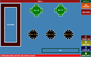 Phần mềm Order máy tính bảng