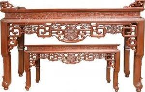 Bộ Minh móc gỗ gụ kích thước 197 x 81x127. Giá 13 triêu. Liên hê: (Phạm Trung Kiên).
