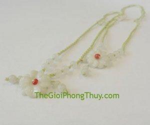 Dây chuyền hoa Mẫu đơn nhỏ 6 hạt Miến Điện FS502