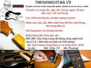 Chuyên Sửa Chữa Và Tân Trang Đàn Guitar, Ukulele, Trống Cajon & Các loại Nhạc Cụ Khác