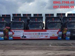 Cần bán Xe ben 4 chân Shacman | Trọng lượng -Trọng lượng bản thân: 12.870 (kg) -Tải trọng cho phép TGGT: 17.000 (kg) -Tổng tải trọng: 30.000 (kg)