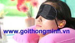 Combo bịt mắt và nút tai đi tàu xe máy bay