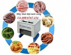Máy thái thịt tươi sống tự điều chỉnh 2 ngăn giá cực rẻ