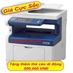 Máy in Xerox DocuPrint M355df, In, Scan, Copy, Fax, Network, Duplex, Laser trắng đen