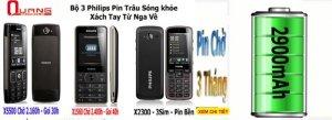 Chuyên điện thoại Philips E560,X5500,X1560,X513 xách tay Nga