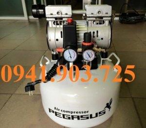 Máy nén khí không dầu, giảm âm pegasus tm- of750- 50l