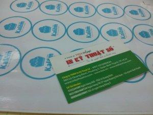 In tem nhãn decal sticker Bế thành phẩm Giá từ 550đ/c
