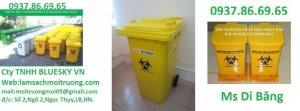 Thùng rác bệnh viện màu trắng,thùng rác y tế 120l,thùng rác đạp chân 20l,túi đựng rác y tế,hộp đựng vật sắc nhọn có giá sắt