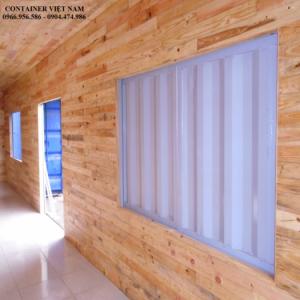 Container văn phòng 40 feet ốp gỗ