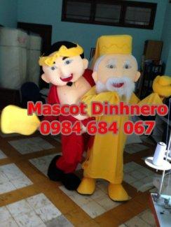 May mascot, linh vat bieu dien Phúc Lộc Thọ lấy gấp, nhanh