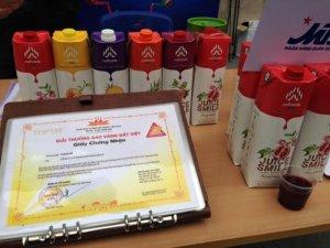 Công ty Nafoods Group đã đem đến ch người tiêu dùng Việt sản phẩm nước trái cây lựu nguyên chất, cô đặc như mật ong, chai đóng 1 lít, pha tỷ lệ với nước lọc: 1:5 hoặc ống theo sở thích cá nhân người tiêu dùng. Uống lạnh hay uống nóng đề được, phù hợp với mọi lứa tuổi. Sản phẩm đã có mặt trên thị trường ở cả 3 miên trên toàn quốc. Bên cạnh nước ép lựu cô đặc nguyên chất, công ty còn có những sản phẩm khác đều có thương hiệu Juices mile với các loại nước trái cây khác như: Nước ép nho cô đặc, nước cam cô đặc, nước chanh leo trộn dứa cô đặc, nước dứa cô đặc,