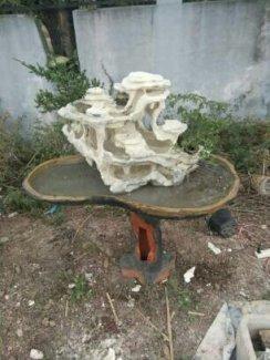 Tiểu cảnh thác nước cao 50cm dài 60cm trang trí đẹp cho ngày Tết