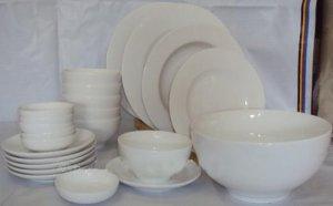 Cho thuê bát đĩa trắng sứ sạch, dụng cụ ăn tiệc buffet