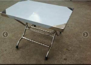 10 bộ bàn inox ghế nhựa lưng tựa thấp 99%