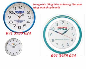 Đồng hồ treo tường giá rẽ, đồng hồ in logo theo yêu cầu