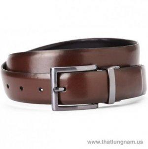 Nhãn hiệu:  KENNETH COLE REACTION Brown & Black Reversible Faux Leather Belt Size: 34 | 36 | 38 Mã số: KCM024 Màu: Đen | Nâu (2 mặt da, cắt ngắn được) Xuất xứ: Hàng hiệu ship Mỹ, mới 100% (new with Tag)